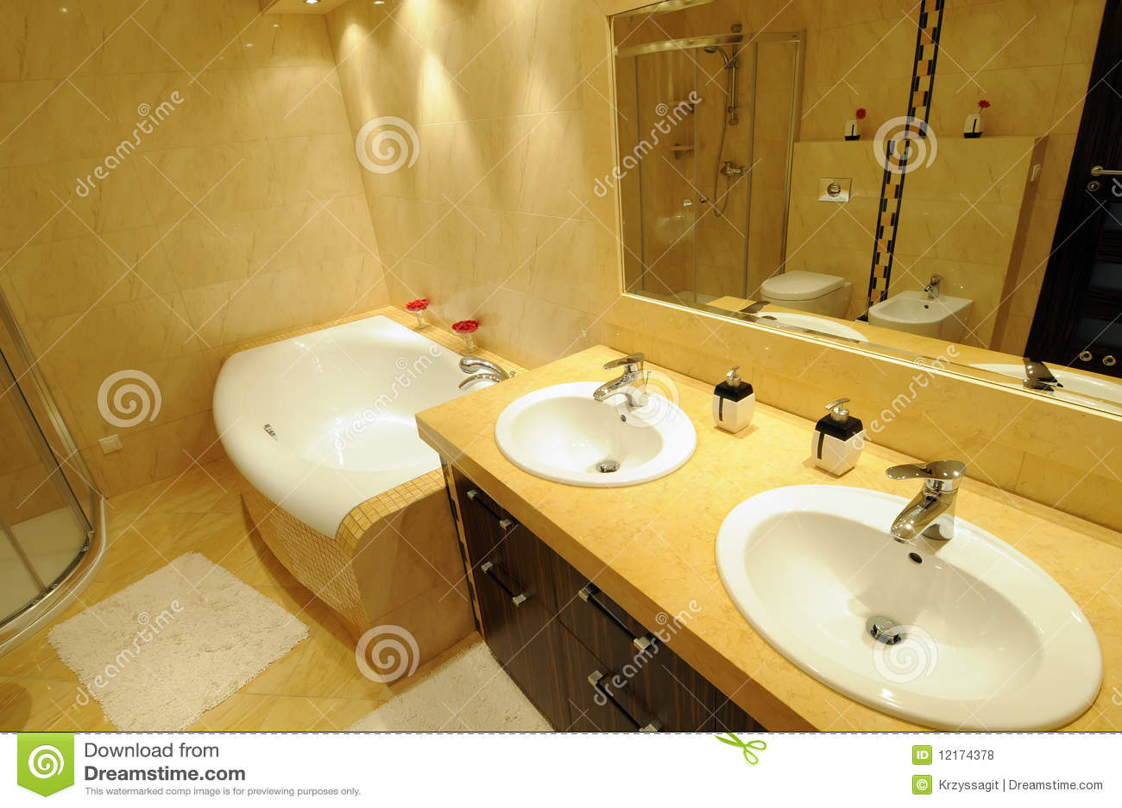 Moderne badkamers royalty vrije stock foto 39 s afbeelding 12174378 for Moderne badkamers