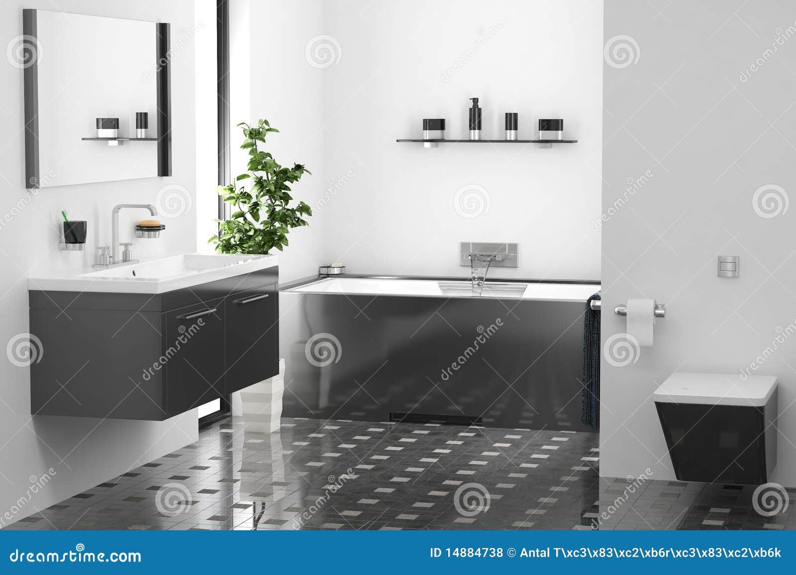 Moderne badkamers stock illustratie afbeelding bestaande uit vloer 14884738 - Moderne badkamer betegelde vloer ...