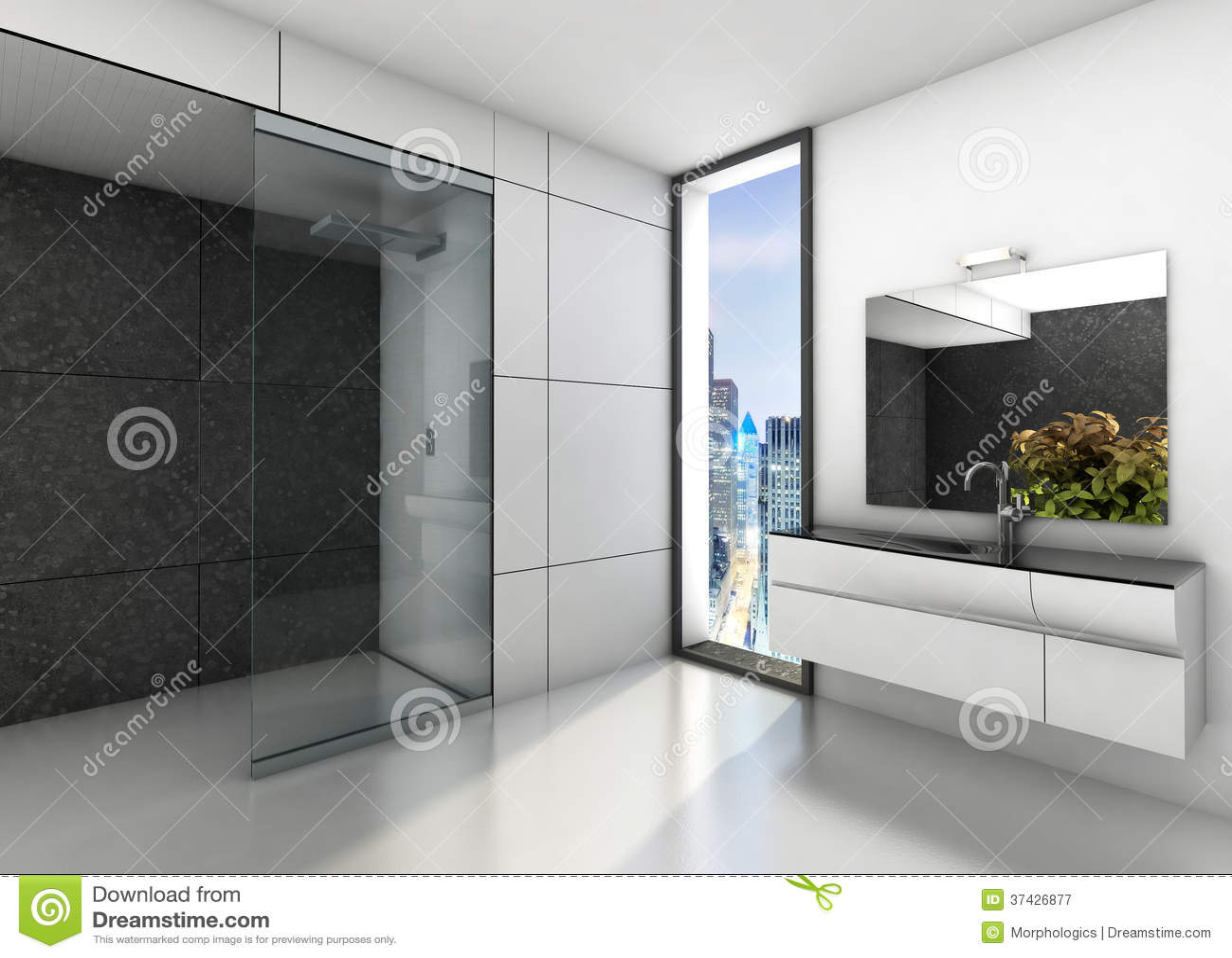 Moderne badkamers royalty vrije stock fotografie afbeelding 37426877 - Badkamers ...