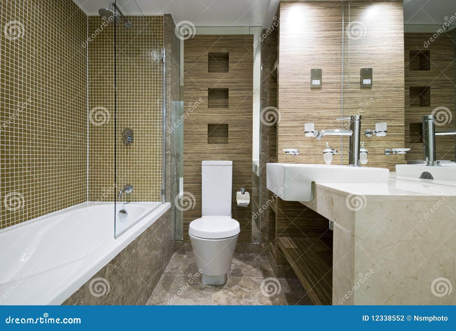 Moderne badkamers met marmeren vloer stock fotografie afbeelding 12338552 - Marmeren douche ...