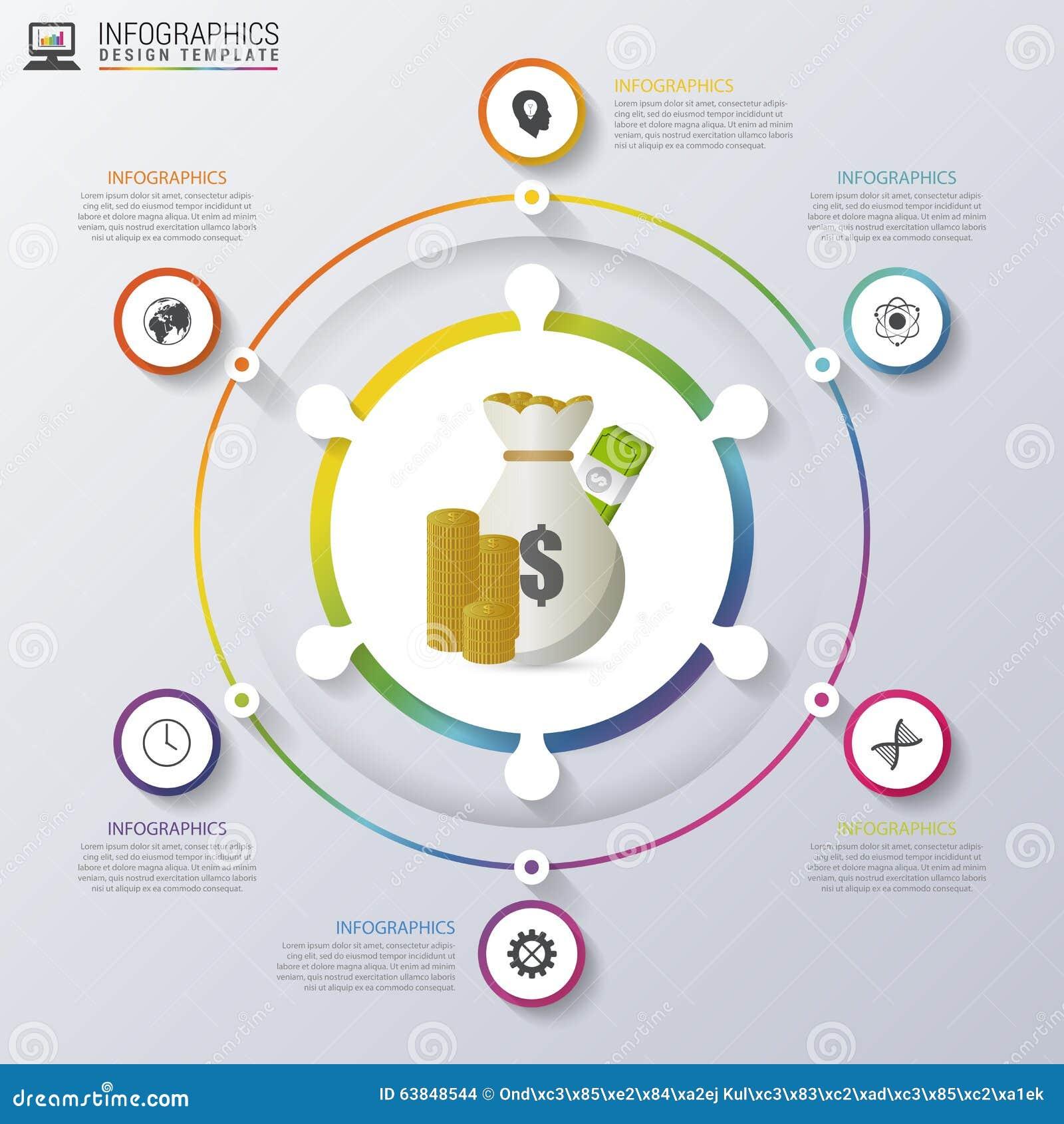 Moderne bedrijfsinfographicscirkel Vector illustratie