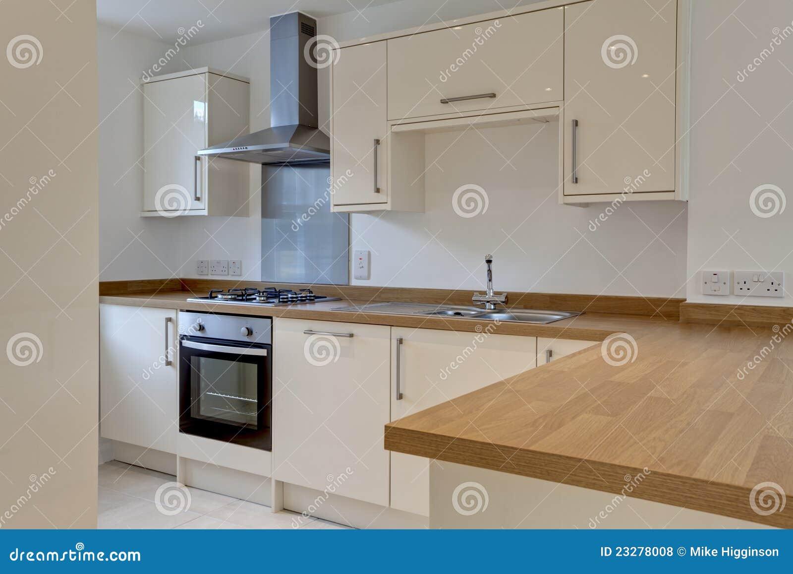 Moderne Befestigte Kuche Stockfoto Bild Von Wanne Haupt 23278008