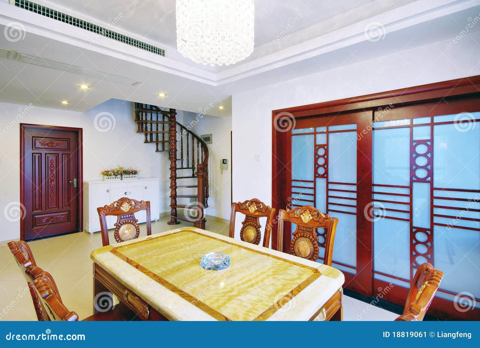 moderne binnenhuisarchitectuur stock afbeelding