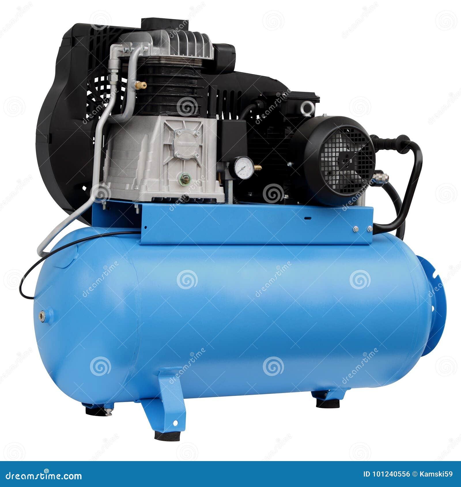 Moderne blauwe compressor