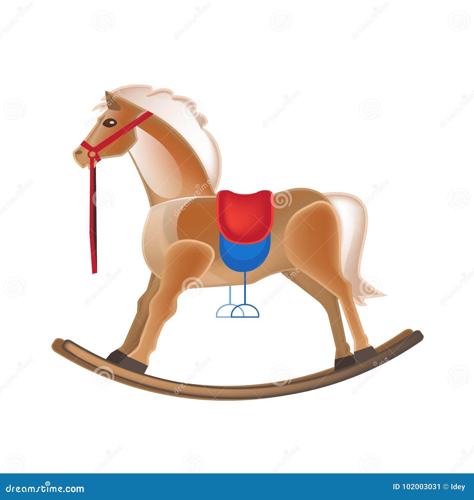 Moderne bunte Kind-` s Spielwaren Schaukelndes Pferd, Unterhaltung, Schwingen, Karussell