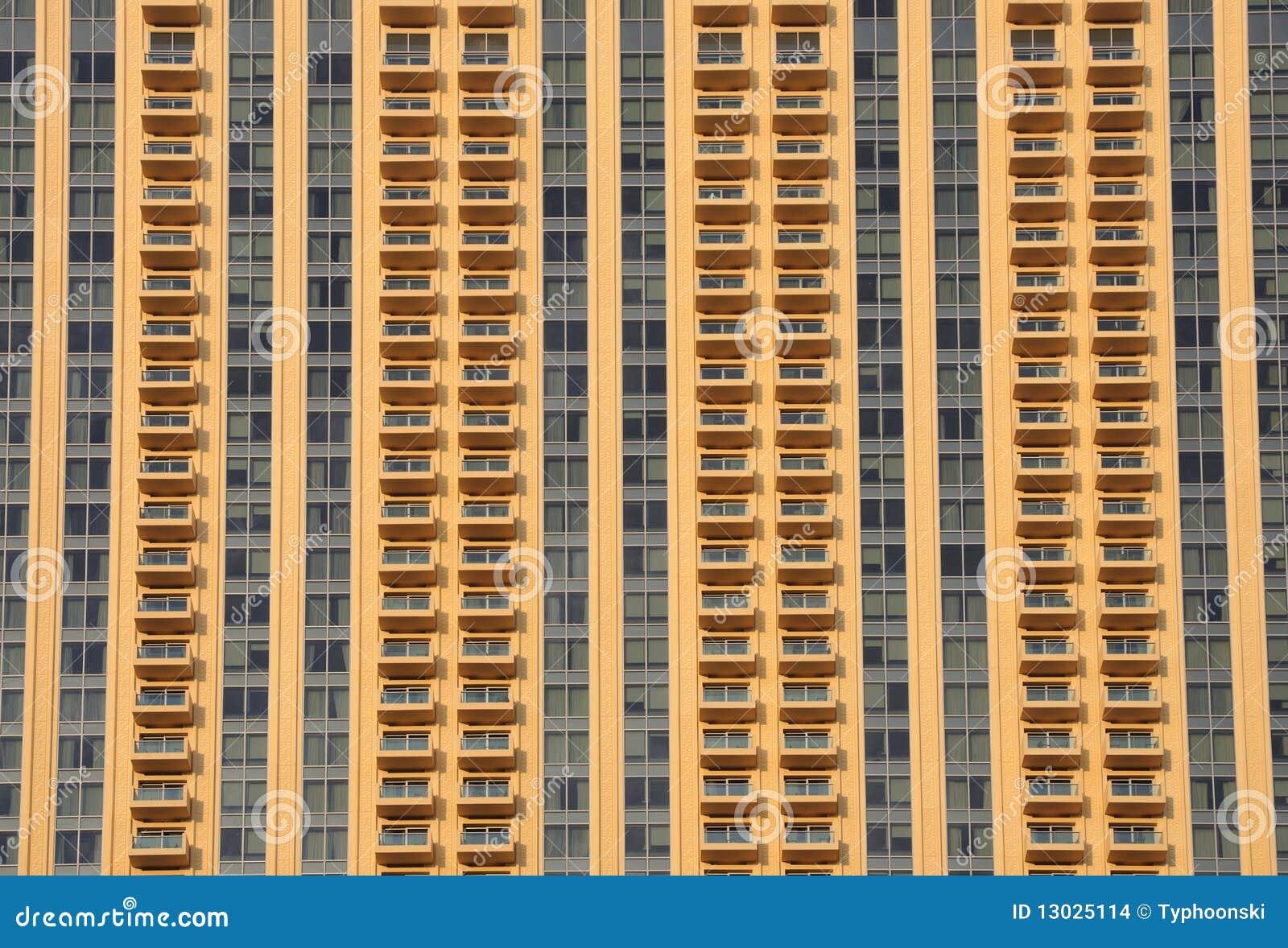 Moderne de bouwvoorzijde