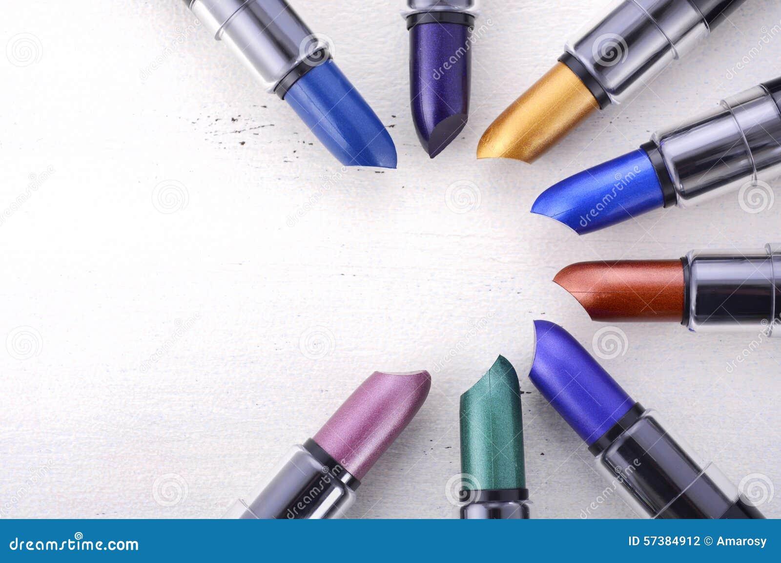 Moderne de kleurenwaaier van de make-uplippenstift