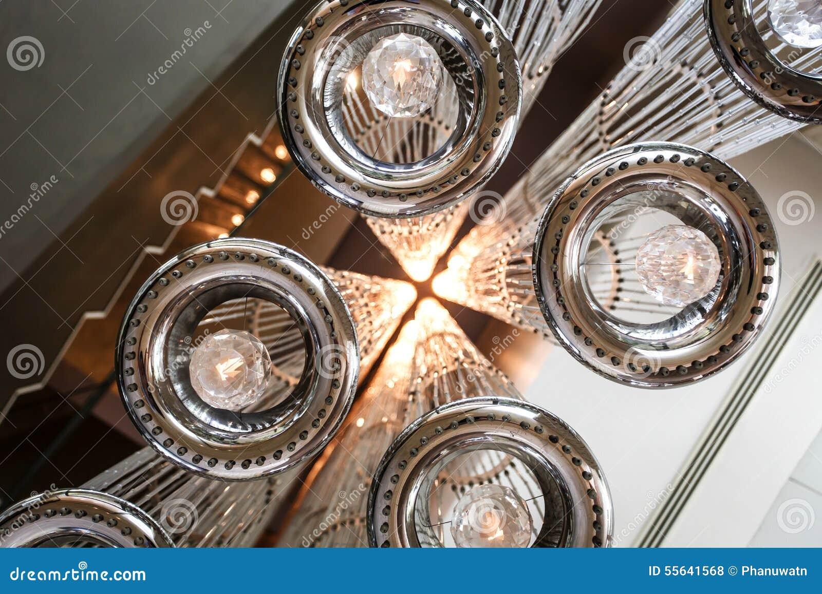 Moderne Deckenbeleuchtung Stockfoto Bild Von Auslegung 55641568