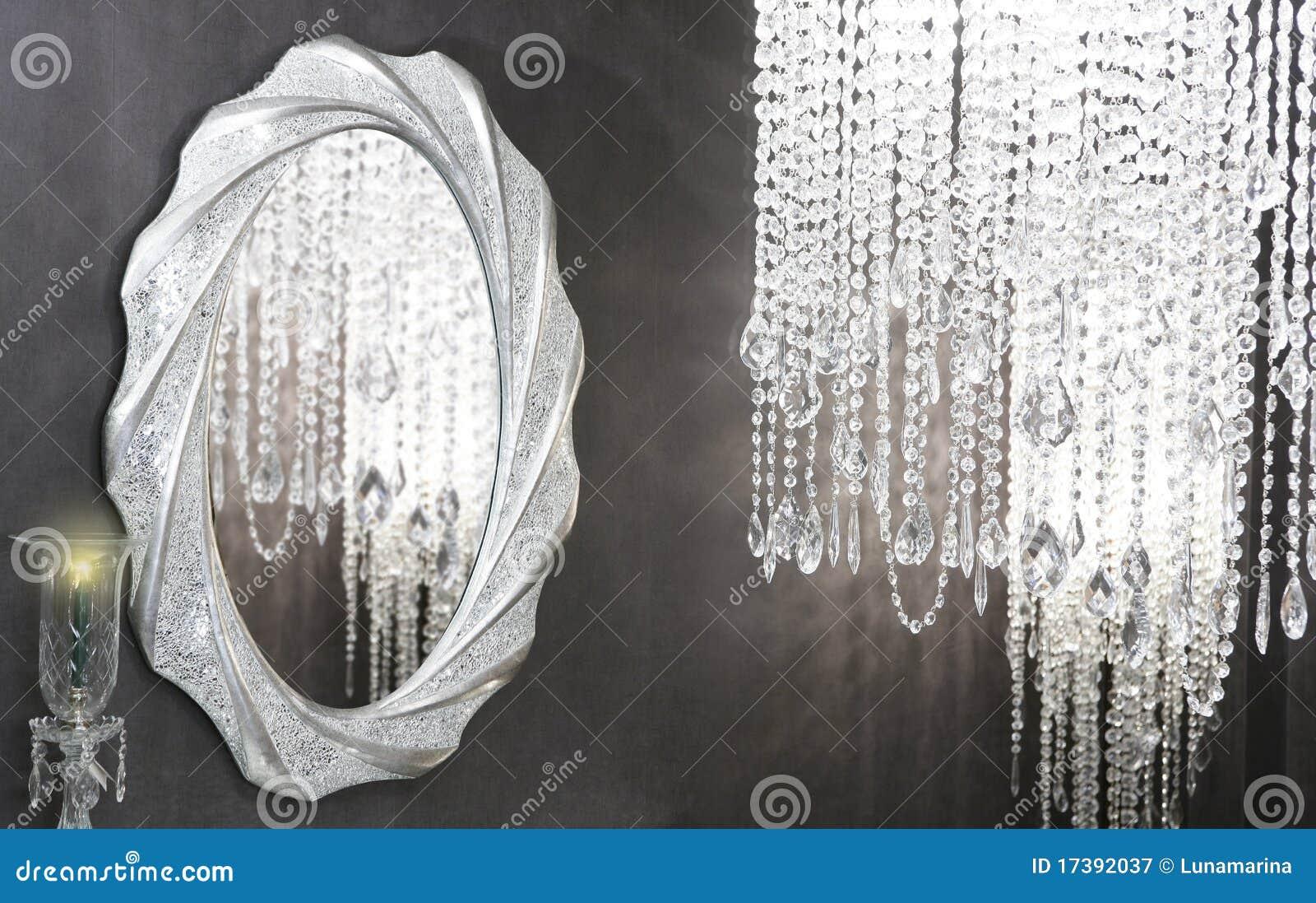 Moderne Dekoration Des Kristallspiegels Der Strass Lampe Ovalen ...