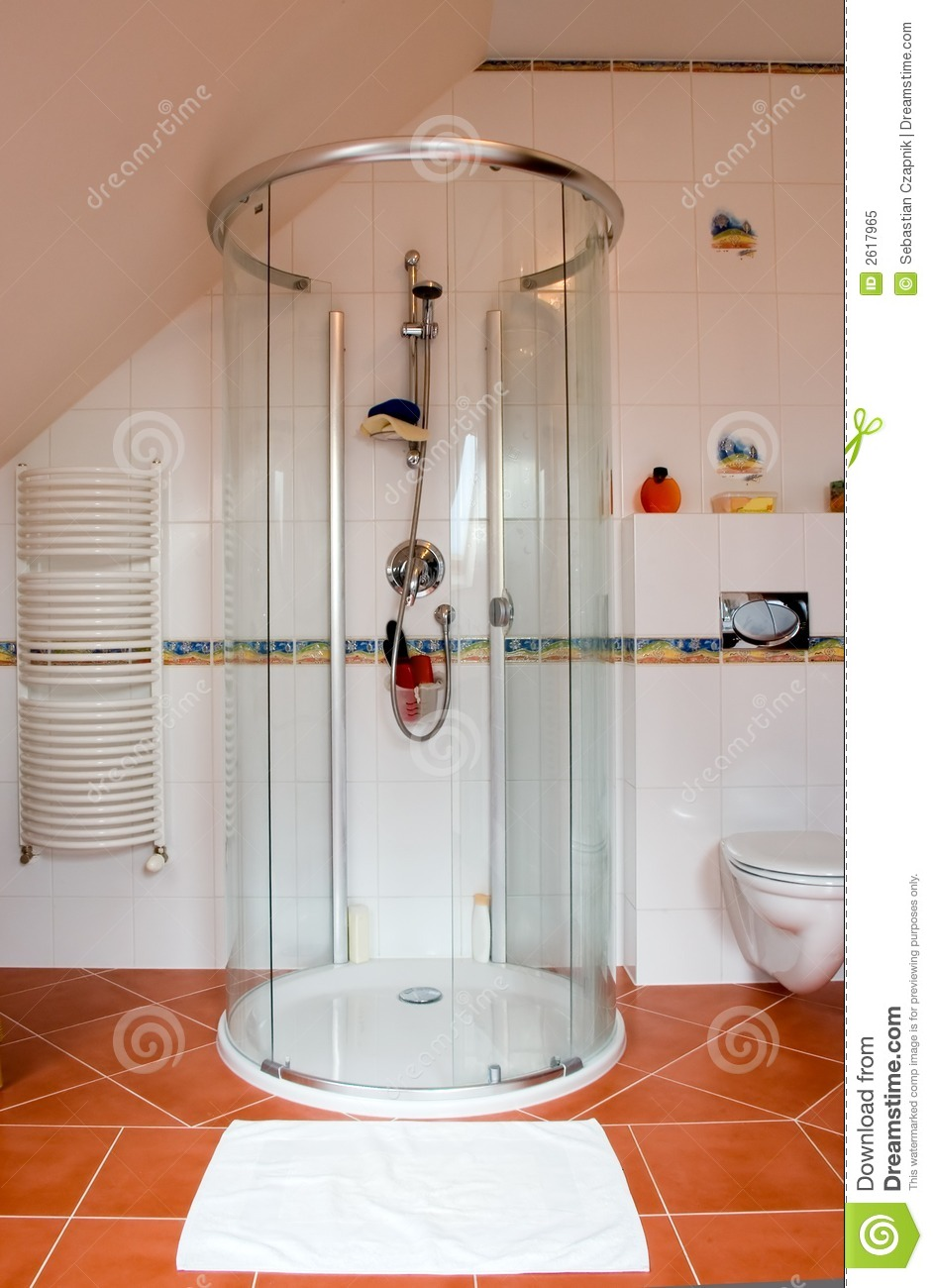 Moderne douchecabine royalty vrije stock foto afbeelding 2617965 - Moderne douche fotos ...