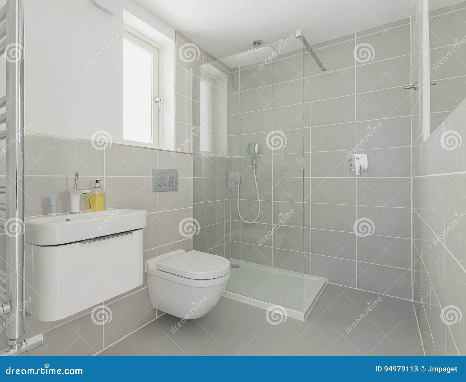 Moderne Duschkabine Stockbild Bild Von Tuch Inländisch 94979113