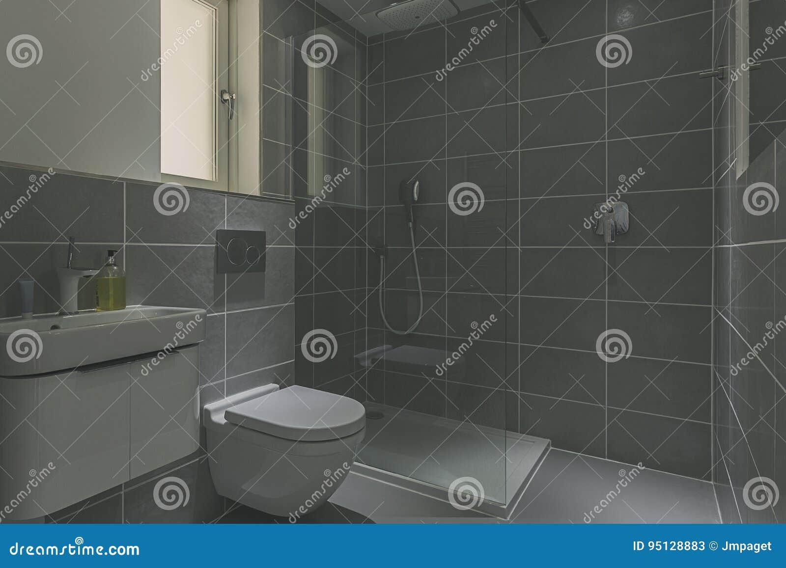 Moderne Duschkabine Stockbild Bild Von Fußboden Haupt 95128883