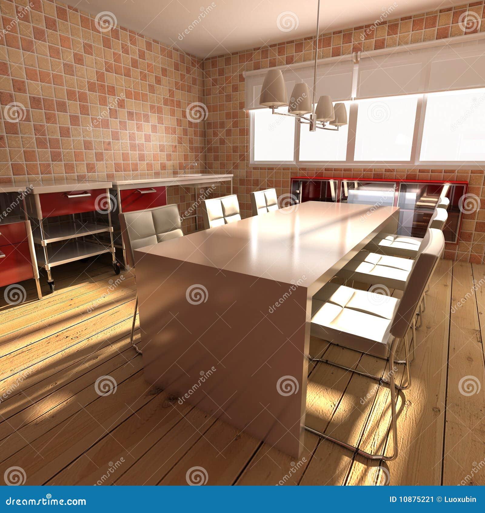 Moderne eetkamer stock afbeelding afbeelding 10875221 - Moderne eetkamer ...