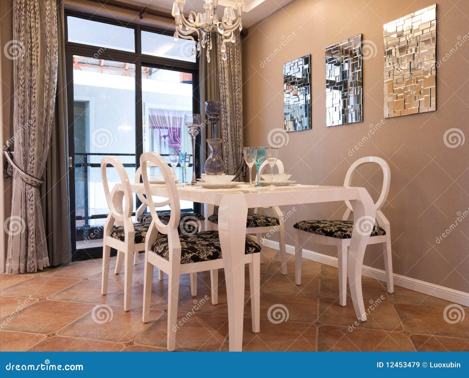 Moderne eetkamer stock afbeelding afbeelding bestaande uit decoratie 12453479 - Moderne eetkamerstoel eetkamer ...
