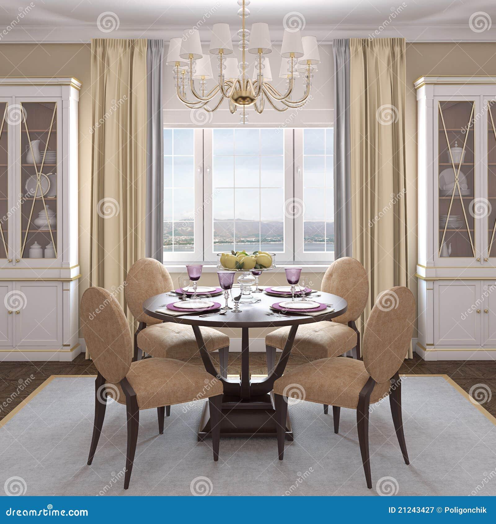 Moderne eetkamer royalty vrije stock fotografie afbeelding 21243427 - Moderne eetkamer decoratie ...