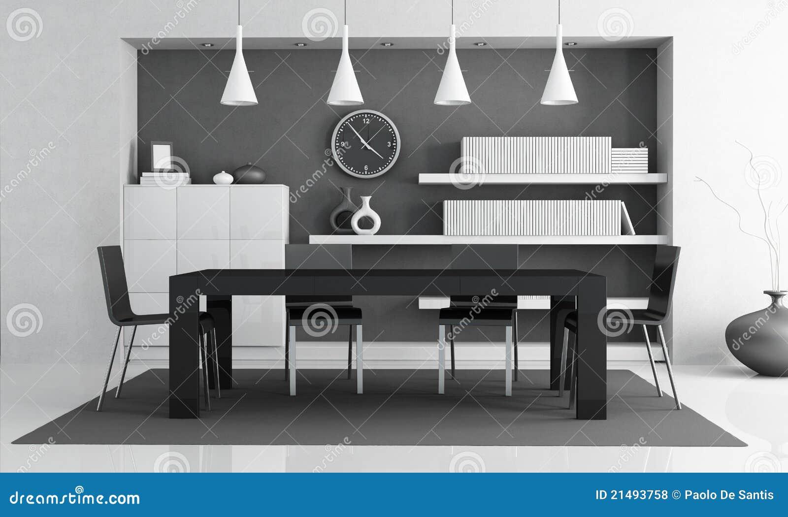 Moderne eetkamer stock illustratie. Illustratie bestaande uit ruimte ...