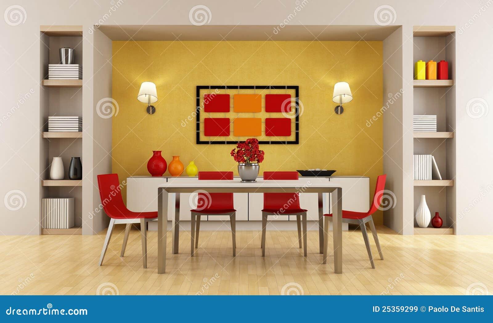 Moderne eetkamer stock illustratie afbeelding bestaande - Moderne eetkamer ...