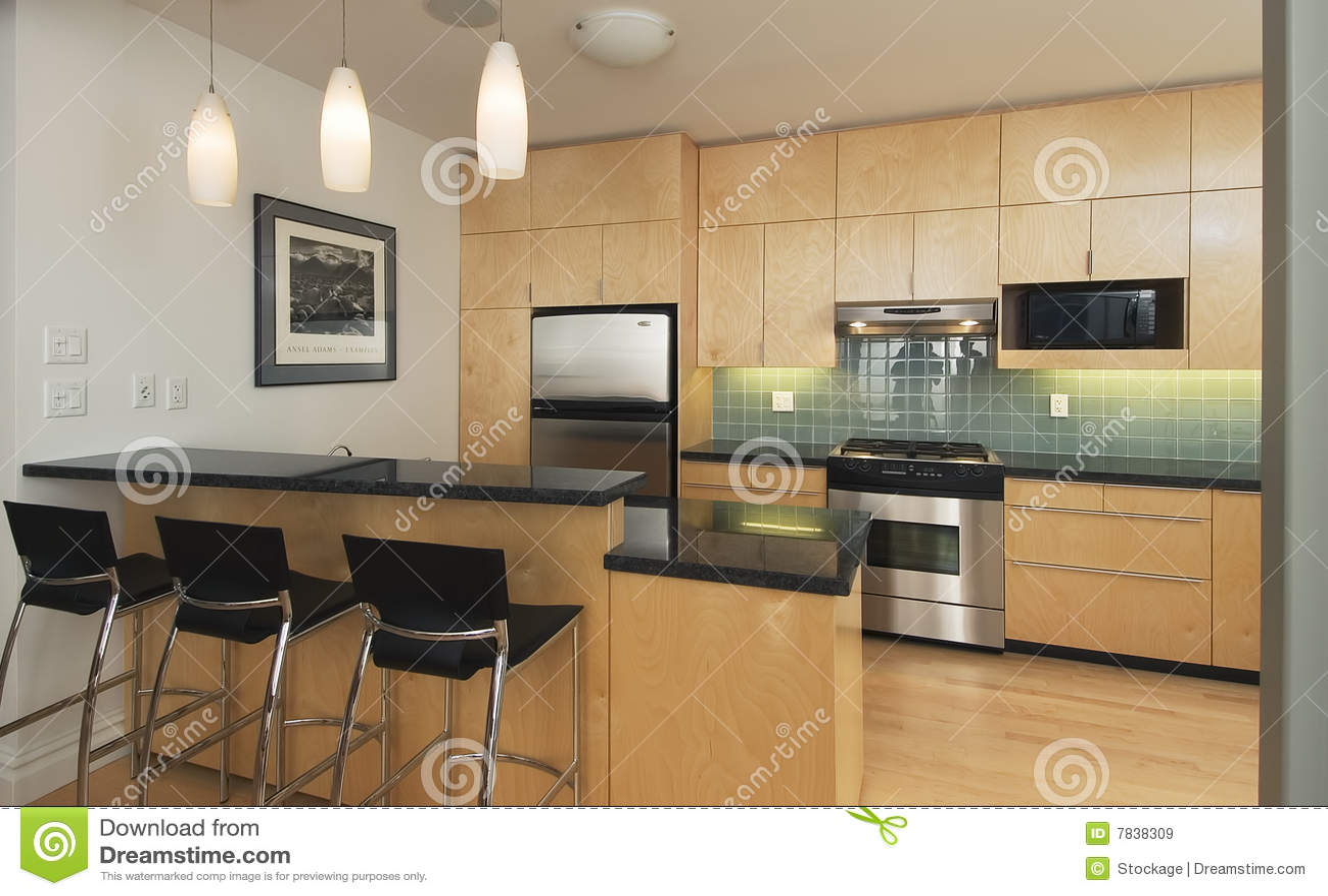 Moderne eigentijdse keuken royalty vrije stock afbeeldingen afbeelding 7838309 - Eigentijdse high end tapijten ...