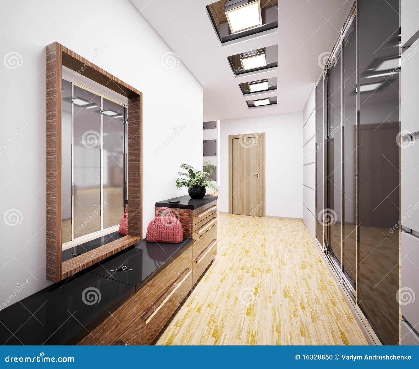 Moderne Eingangshalle Innen3d Stock Abbildung - Illustration von ...