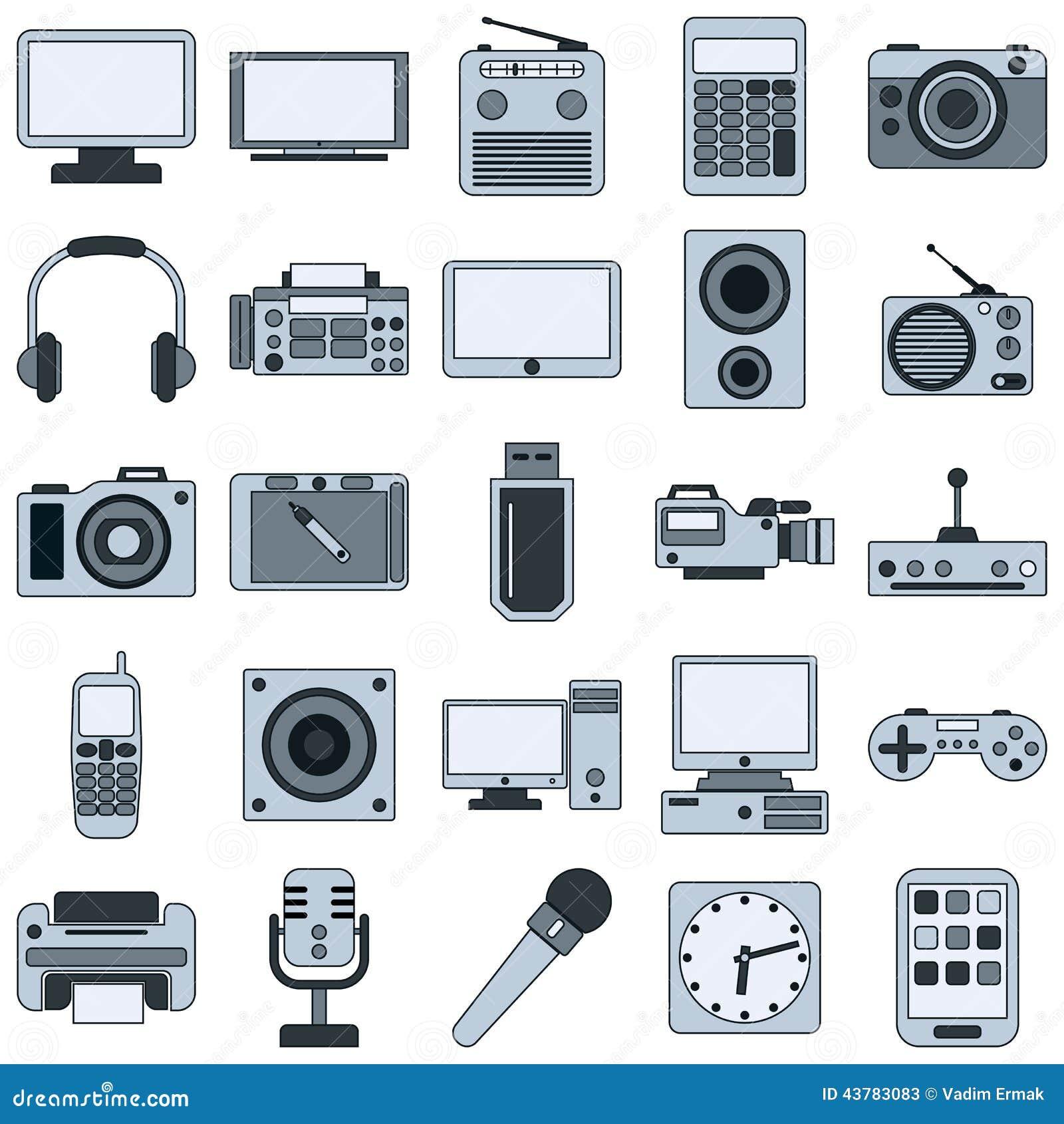 Moderne elektronische apparaten vectorpictogrammen vector illustratie afbeelding 43783083 - Moderne apparaten ...