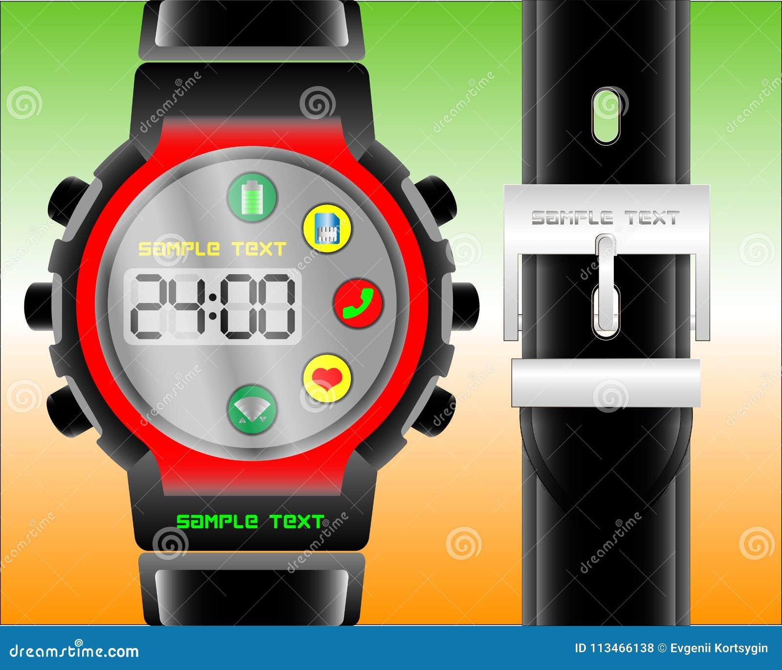 Moderne elektronische Uhr mit Zusatzfunktionen