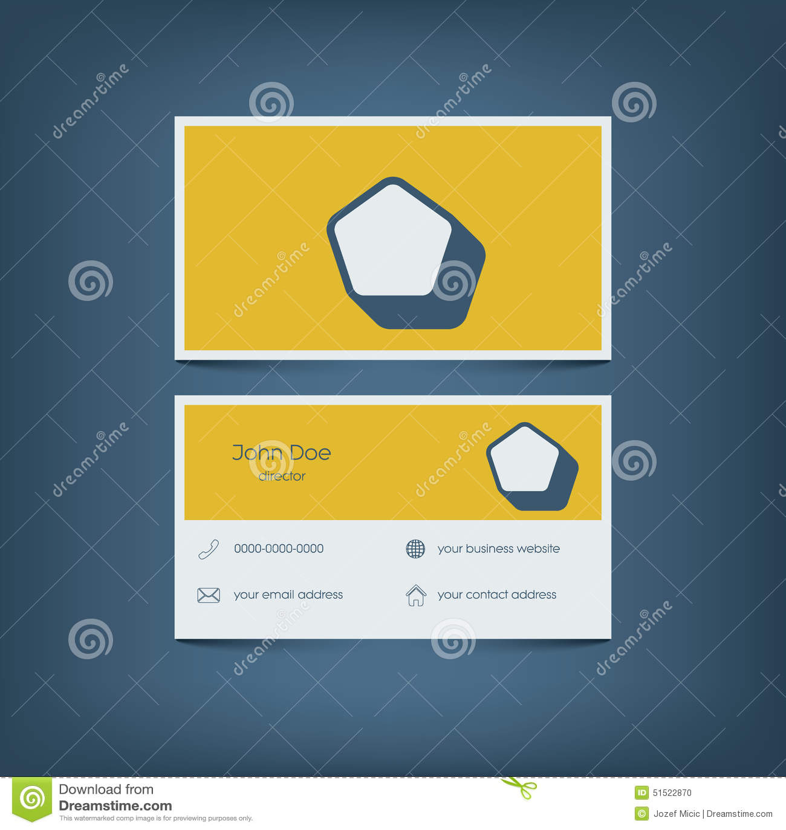 Moderne Flache Designvisitenkarteschablone Graphik Vektor Abbildung ...