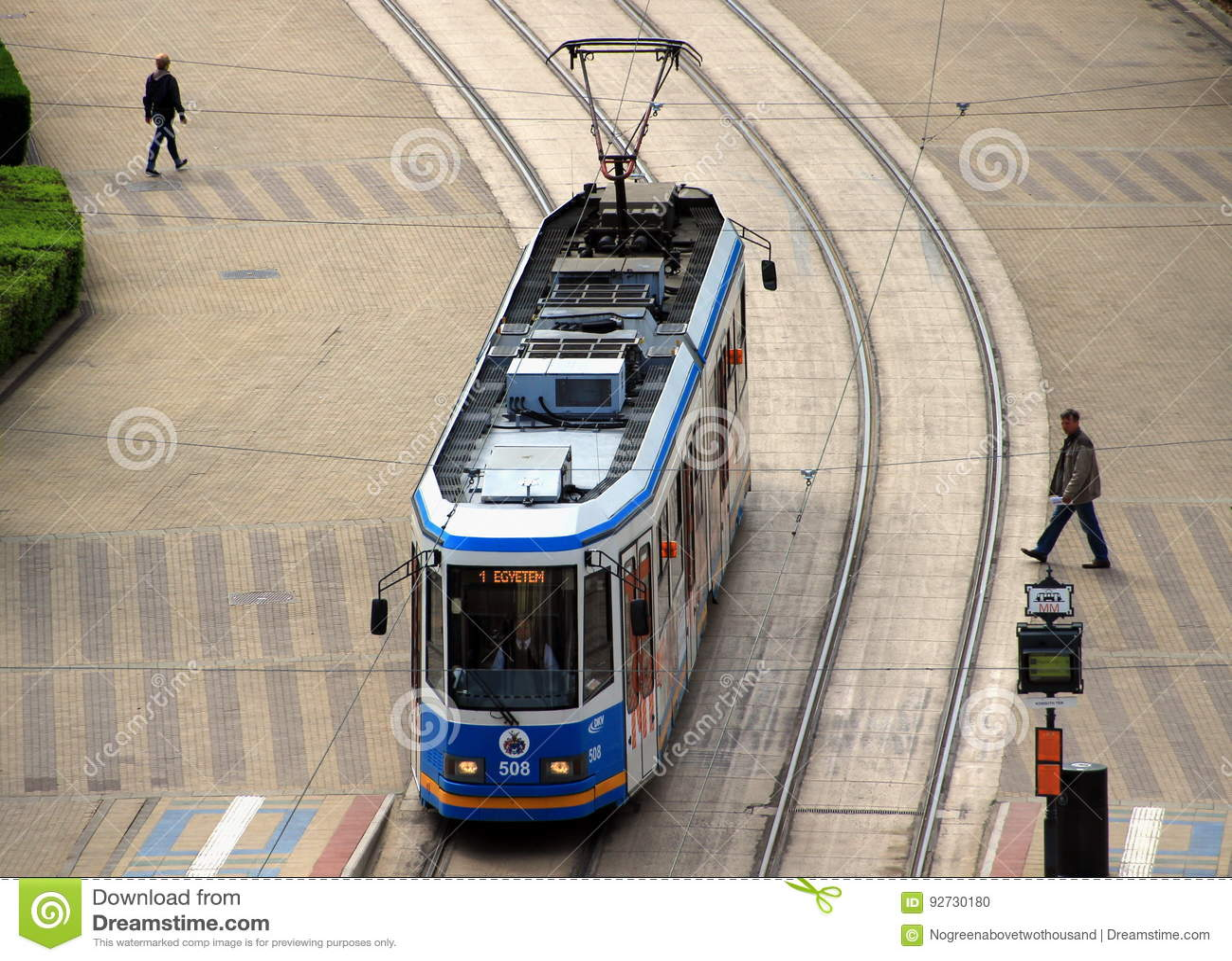 Moderne Ganz-tram in Debrecen, Hongarije
