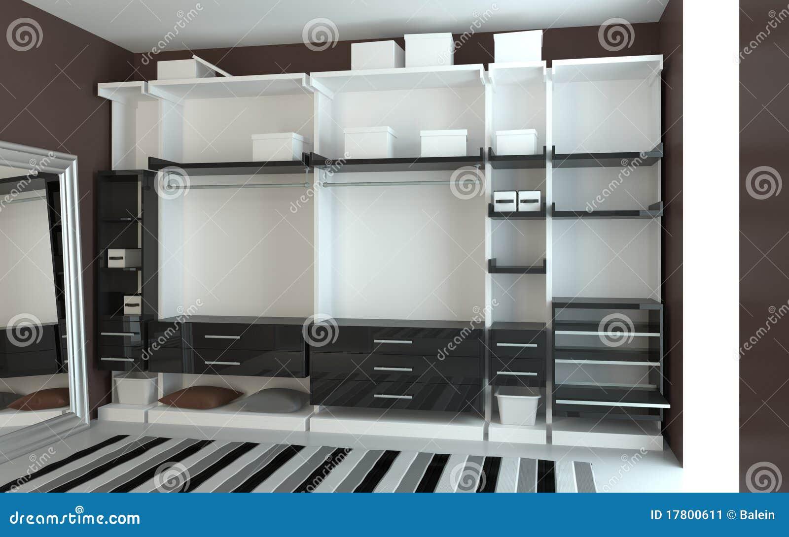 Moderne garderobe stock abbildung illustration von luxus for Moderne garderobe