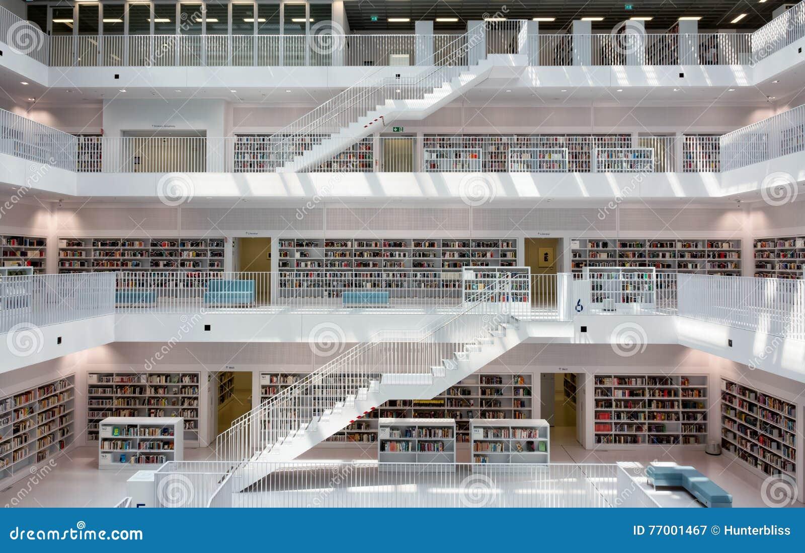 Moderne Geometrische Innenarchitektur Stuttgart Stadt Bibliothek