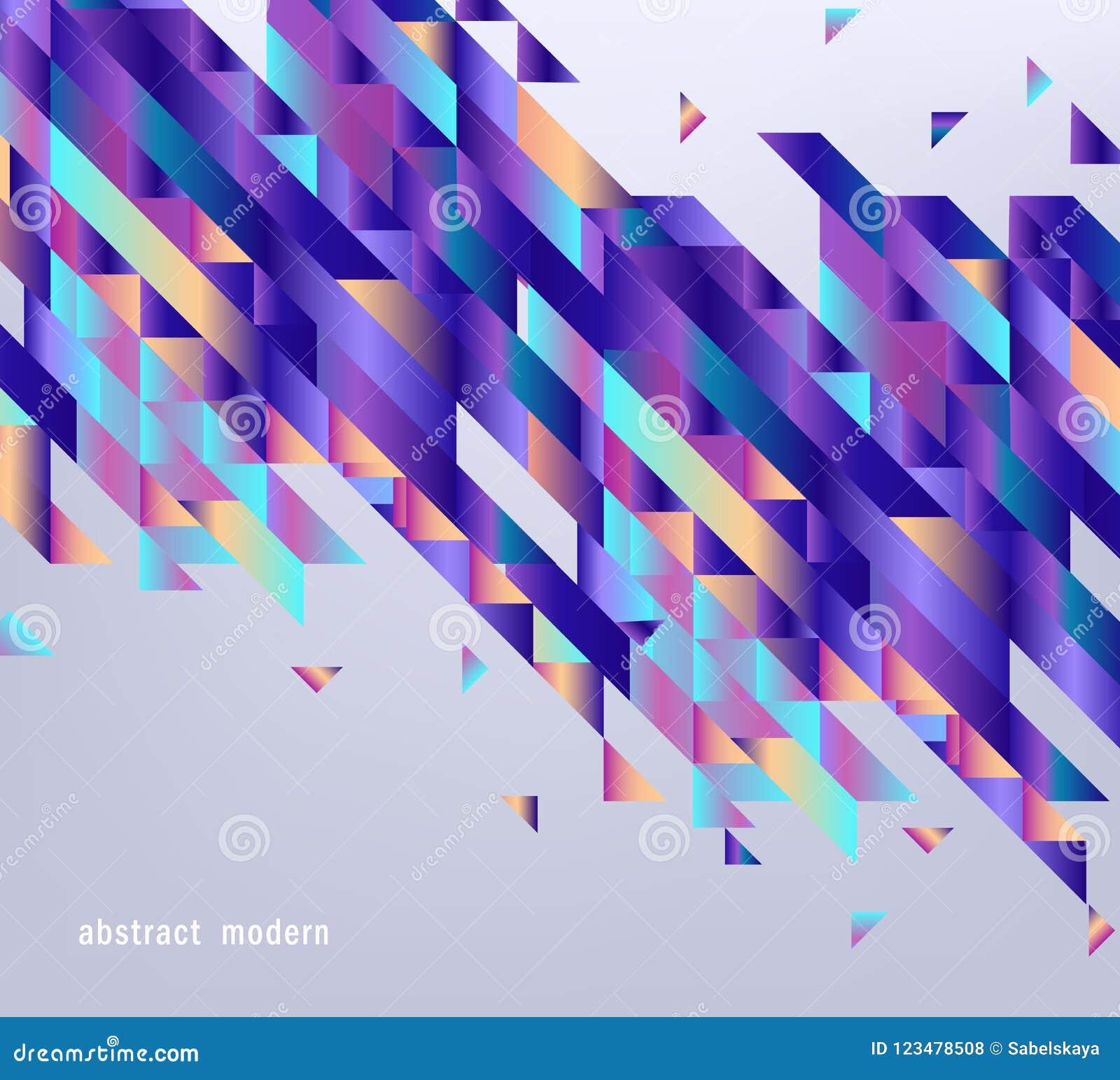 Moderne gradiëntbanner met abstracte geometrische vormen en strepen met vloeibare kleur op grijze achtergrond