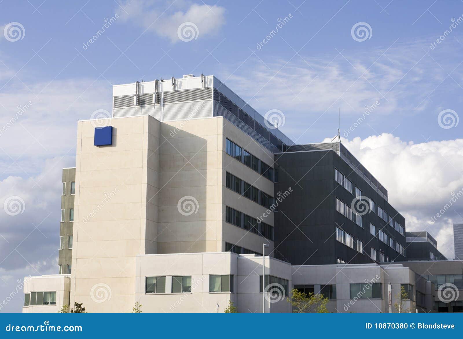 Moderne het ziekenhuisnoodsituatie teken en de bouw