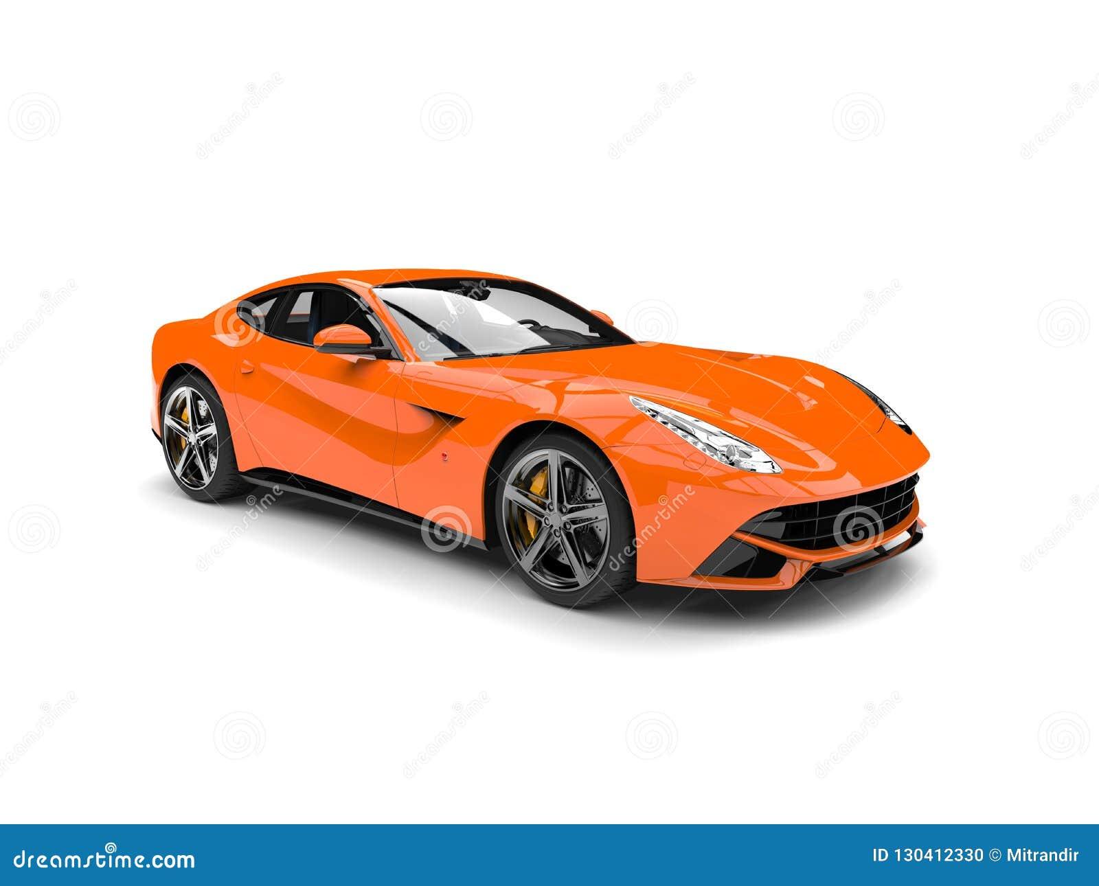 Moderne hete oranje snelle conceptenauto