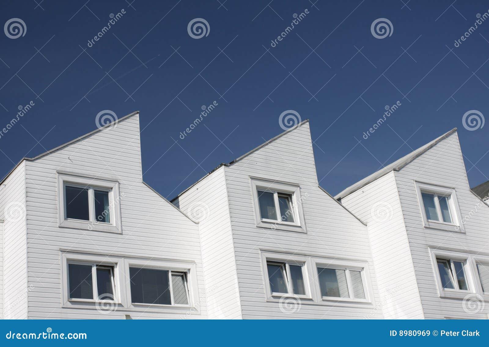 moderne huizen stock afbeelding afbeelding bestaande uit hoekig 8980969