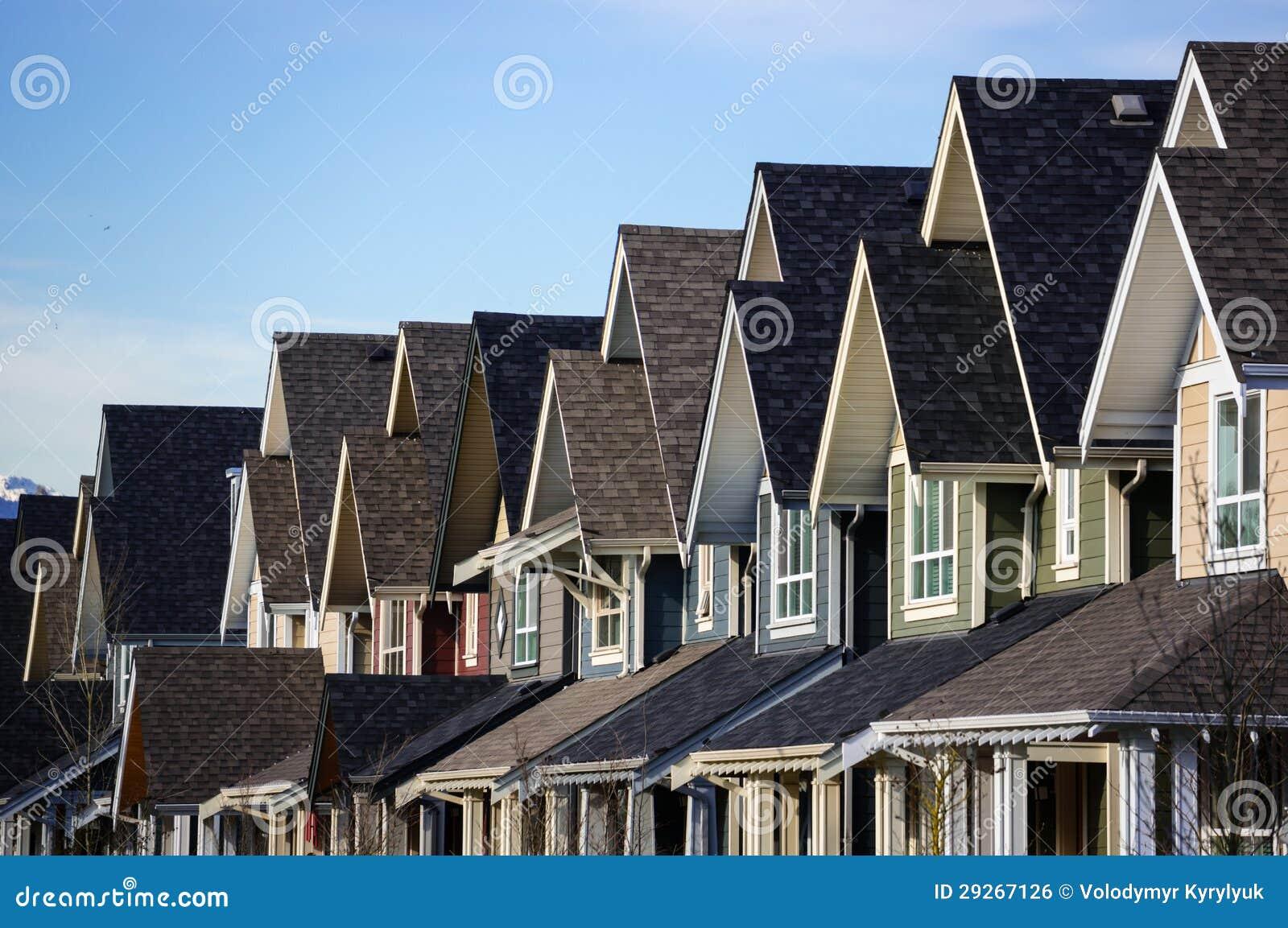 Moderne huizen in de stad royalty vrije stock afbeelding afbeelding 29267126 for Afbeelding van moderne huizen