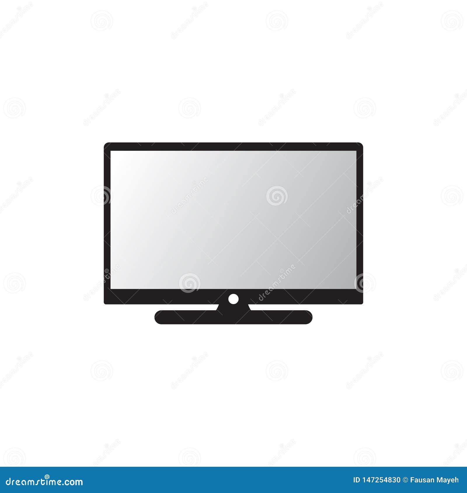 Moderne Ikone des Vektors Fernseh PC-Ikone ?berwachen Sie Ikone Lokalisierter Vektor
