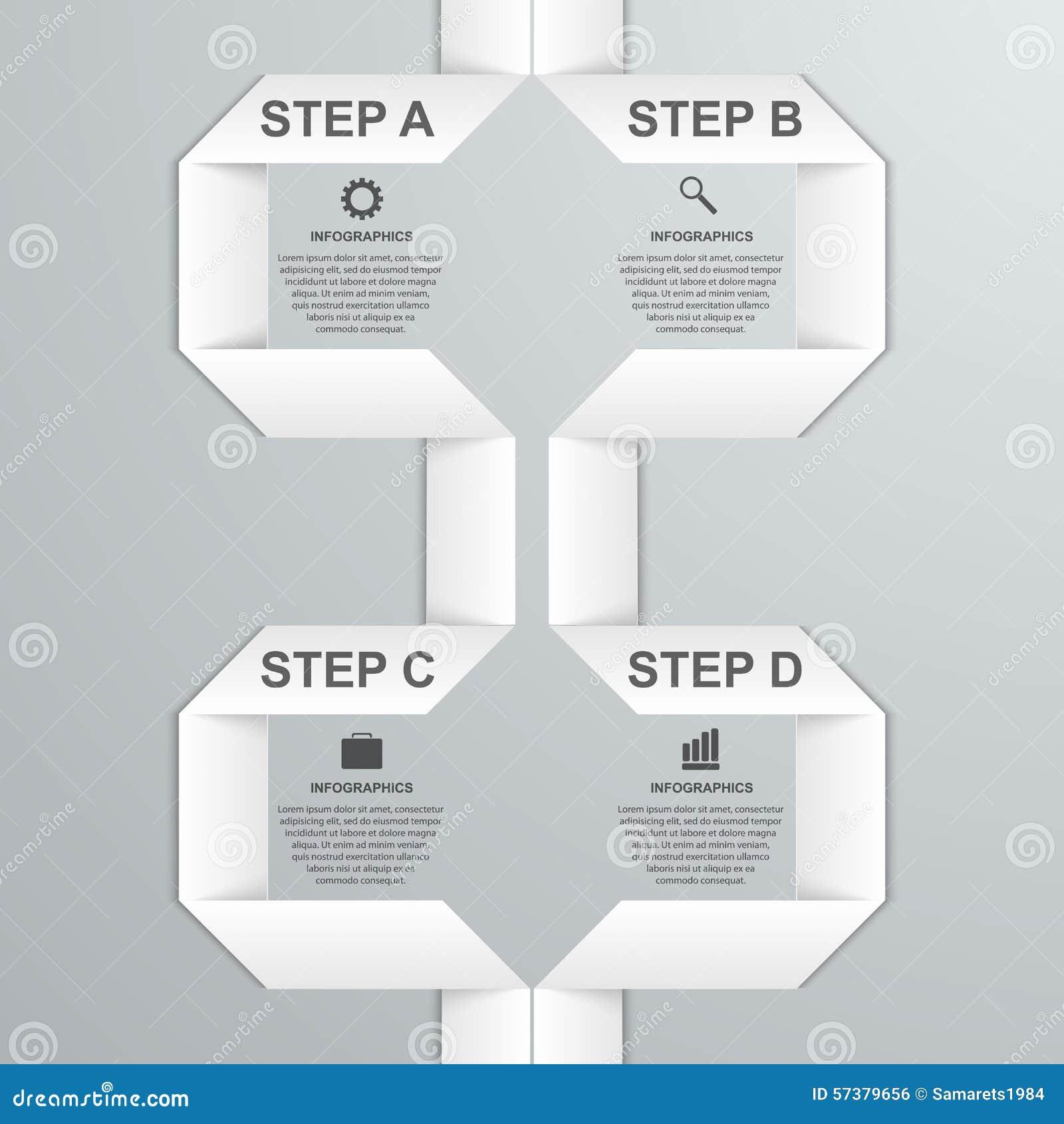 Moderne infographic optiebanner met Witboeklint De elementen van het ontwerp