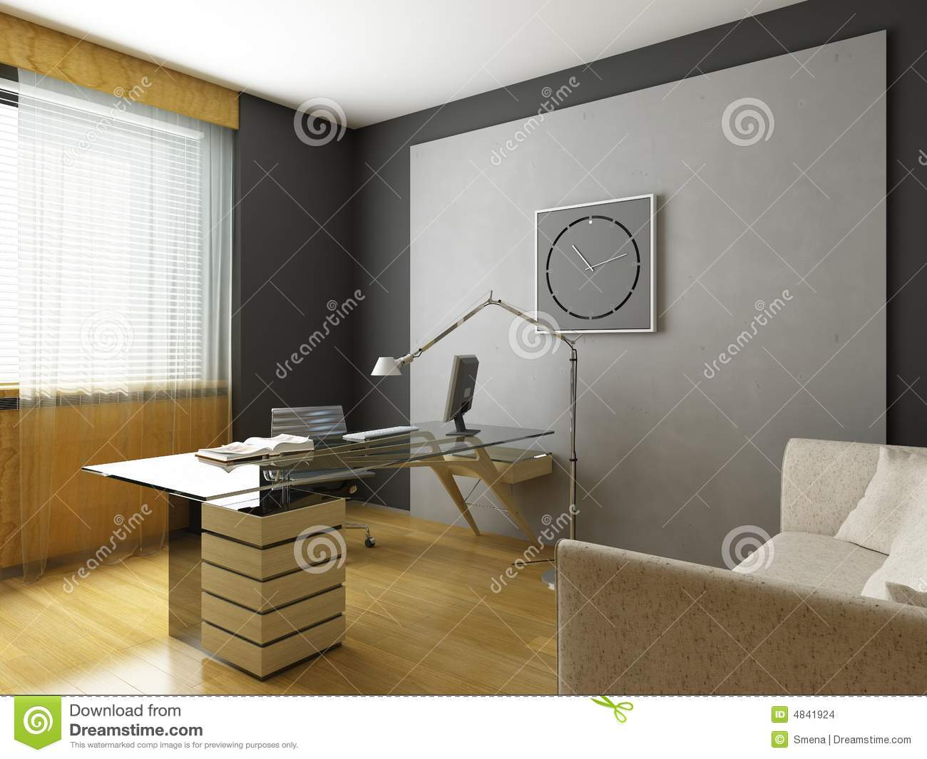 moderne innenarchitektur stock abbildung illustration von. Black Bedroom Furniture Sets. Home Design Ideas