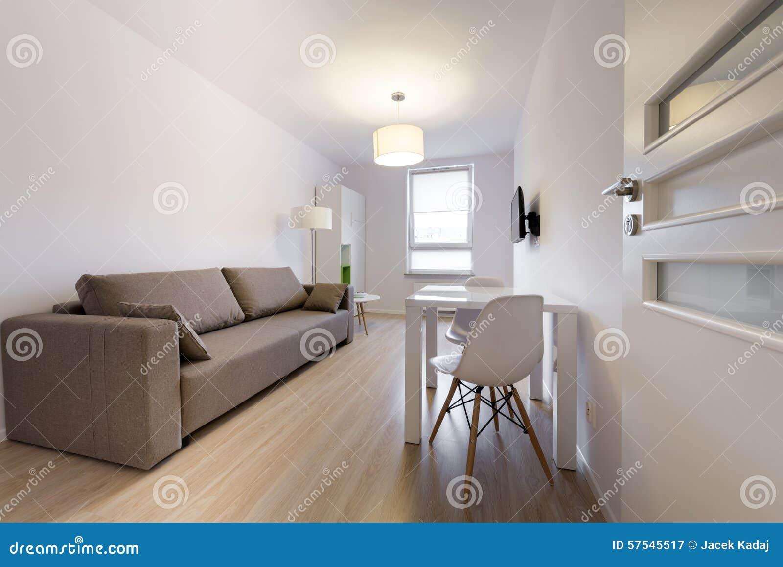 Moderne Innenarchitektur Des Schlafenden Raumes In Der ...