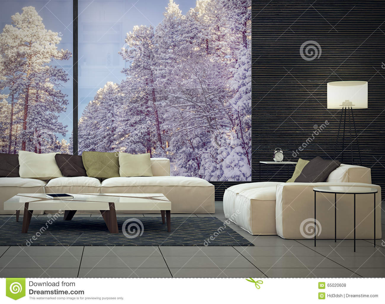 moderne innenarchitektur des wohnzimmers stockfoto bild. Black Bedroom Furniture Sets. Home Design Ideas
