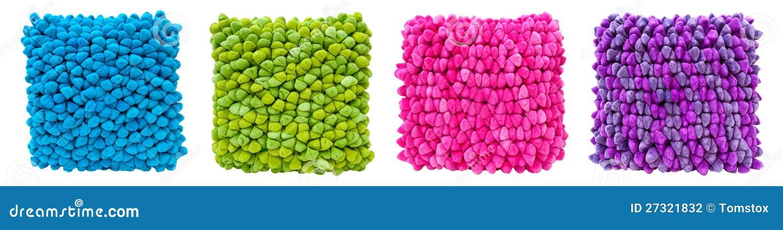 Moderne Kissen moderne innenarchitektur helle farbige kissen stockfoto bild