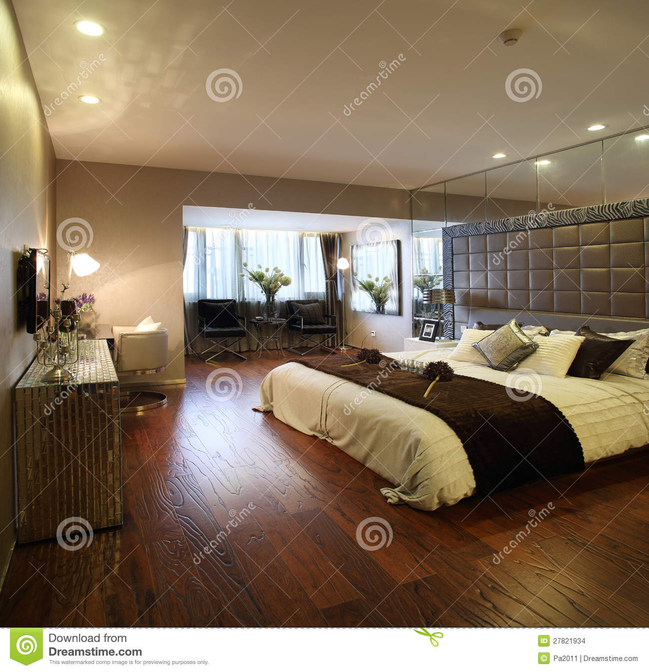 moderne innenarchitektur schlafzimmer stockbilder bild. Black Bedroom Furniture Sets. Home Design Ideas