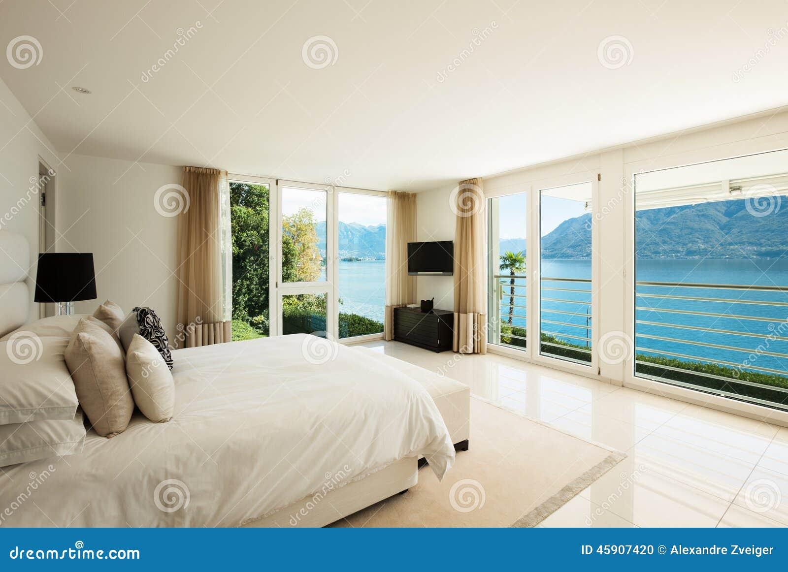 Moderne innenarchitektur fotos  Moderne Innenarchitektur, Schlafzimmer Stockfoto - Bild: 45907420