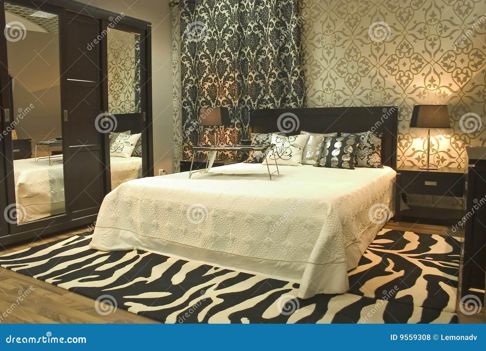 Moderne Interieur De Chambre A Coucher Photo Stock Image Du