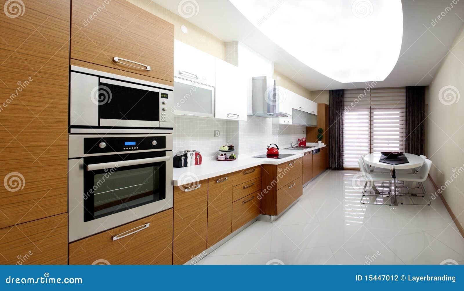 Moderne Küche stockfoto. Bild von auslegung, kochen ...