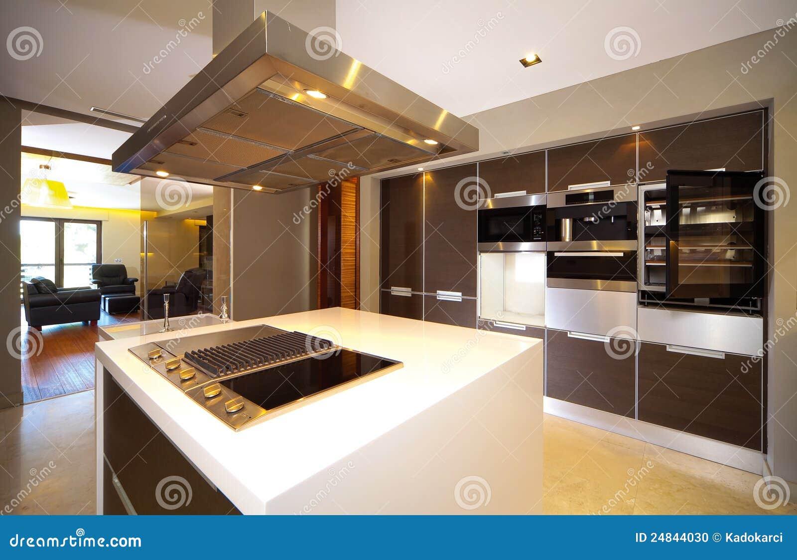 Moderne zeitgenössische Küche und Kücheausrüstungen. #82A229 1300 930