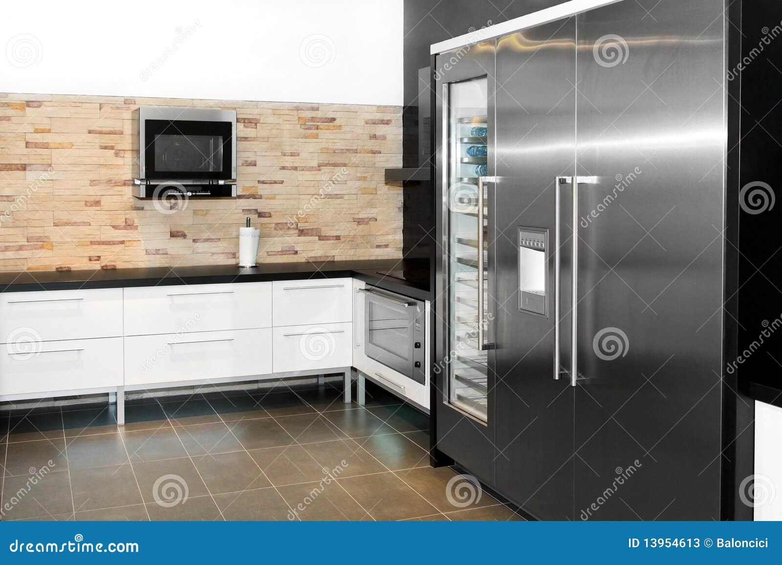 Moderne keuken stock afbeelding afbeelding bestaande uit elektrisch 13954613 - Moderne keukenfotos ...