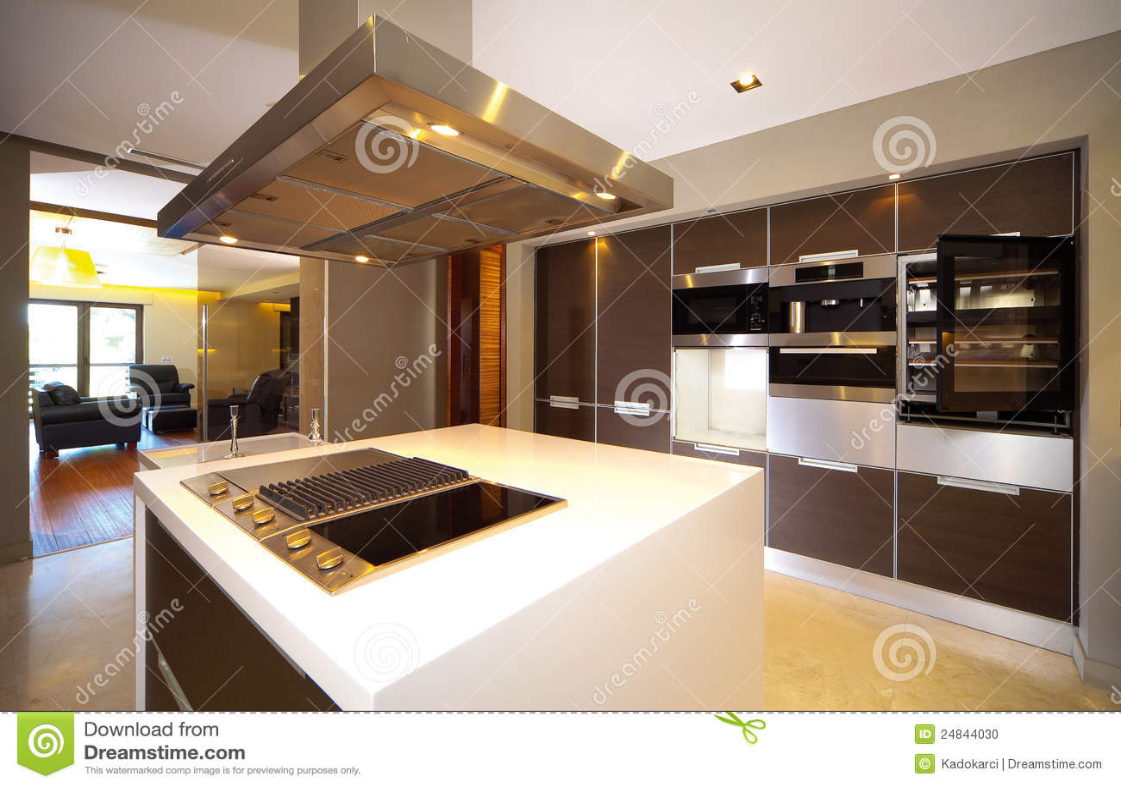 Ultra Moderne Keukens : Moderne keuken stock foto. afbeelding bestaande uit ontwerp 24844030