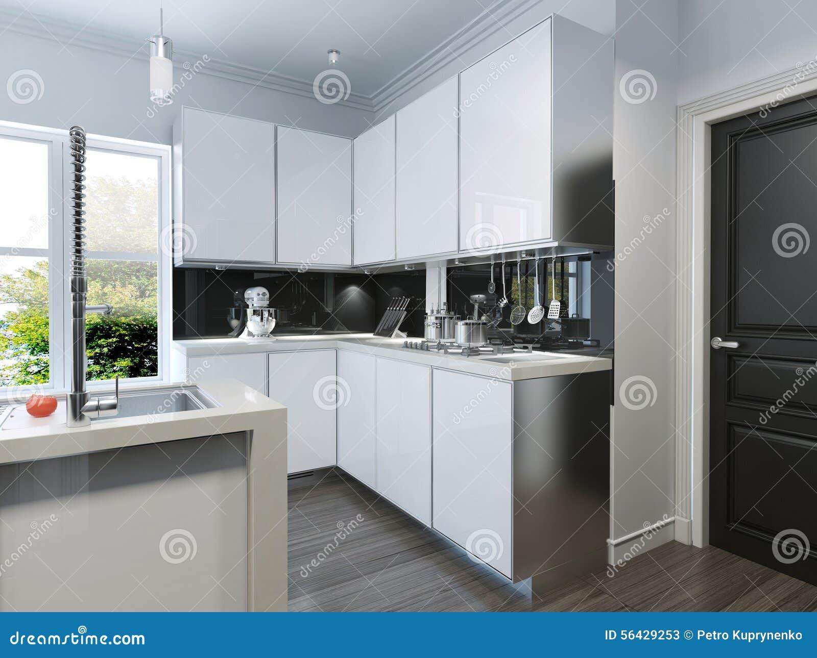 Keuken Moderne Bar : Moderne keuken bar stock illustratie. illustratie bestaande uit
