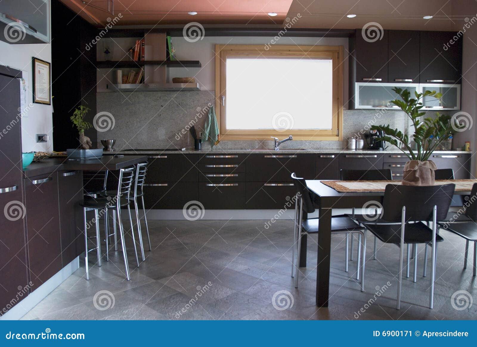 Moderne keuken - binnenland