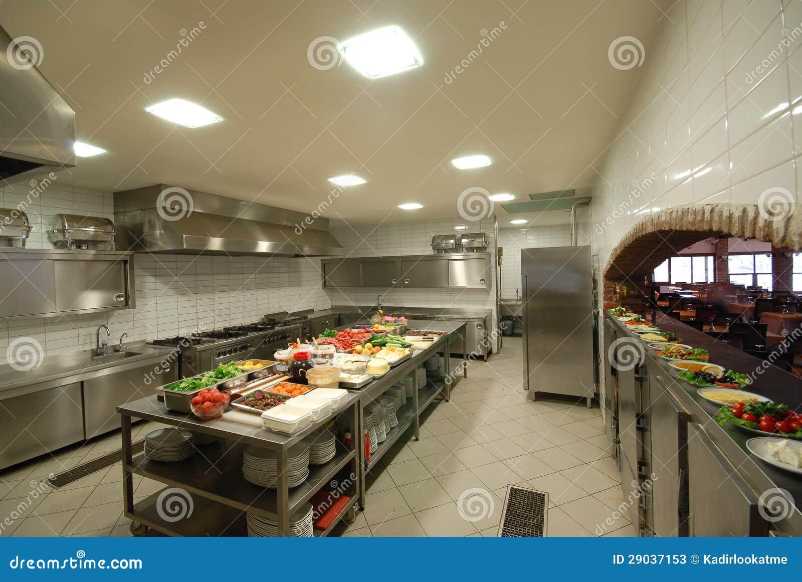 De keuken van het restaurant royalty vrije stock foto's ...